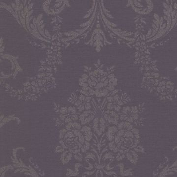 Chambers Eggplant Floral Damask