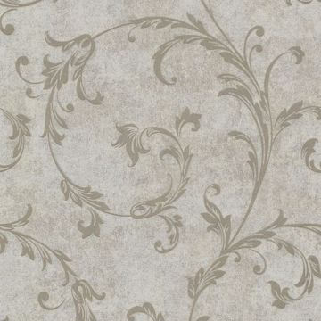 Milton Taupe Shimmer Scroll
