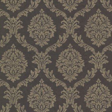 Tennyson Brown Shimmer Damask