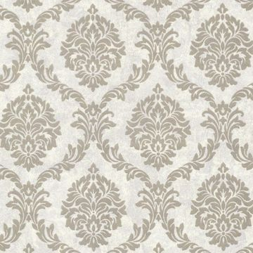Tennyson Pewter Shimmer Damask