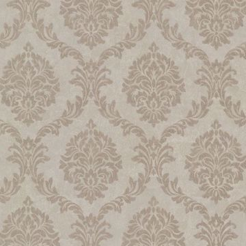 Tennyson Light Brown Shimmer Damask