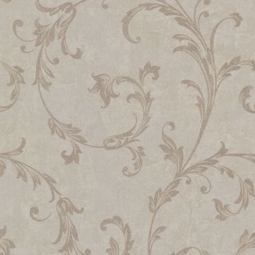 Milton Light Brown Shimmer Scroll