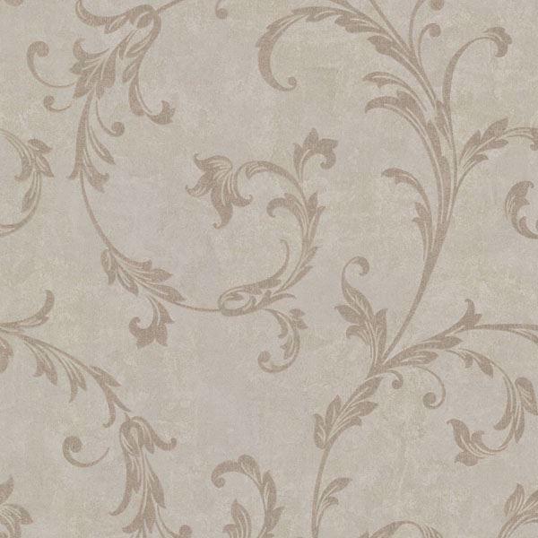 Milton Light Brown Shimmer Scroll