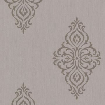 Powell Taupe Damask Medallion