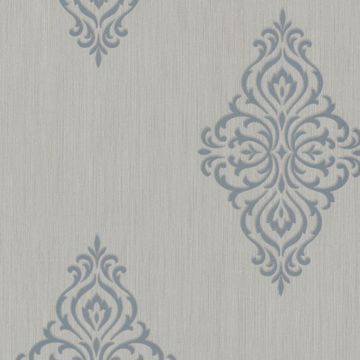 Powell Aqua Damask Medallion