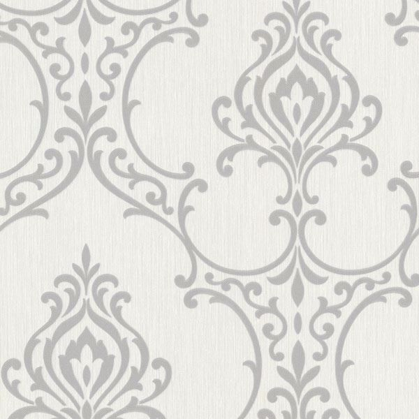 Scott Light Grey Nouveau Damask