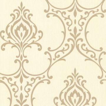 Scott Gold Nouveau Damask