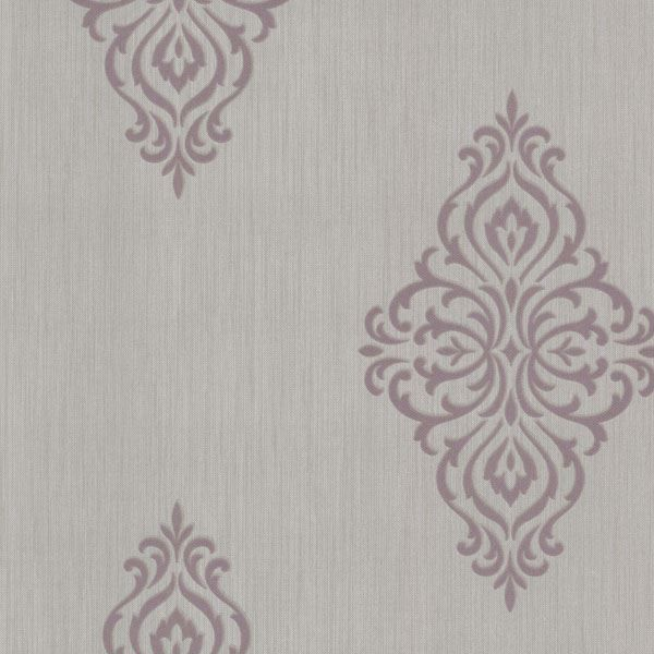 Powell Mauve Damask Medallion
