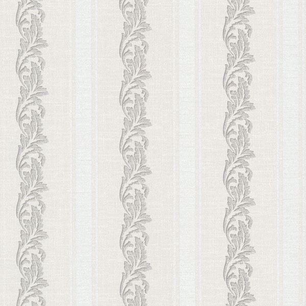 Rennie Stripe Light Grey Scrolling Stripe