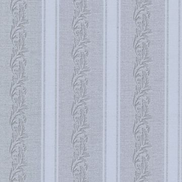Rennie Stripe Grey Scrolling Stripe