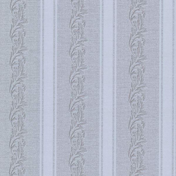Rennie Stripe Grey Scrolling Stripe