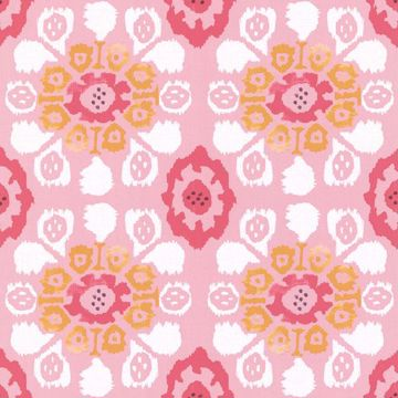 Valencia Pink Ikat Floral