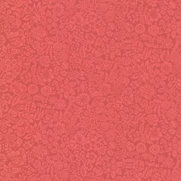 Majorca Red Vivacious Floral Relief