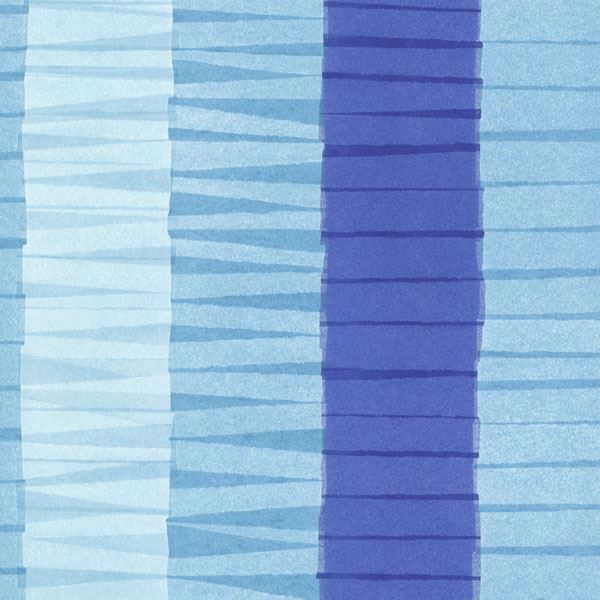 Cala Nova Aqua Layered Crepe Stripe