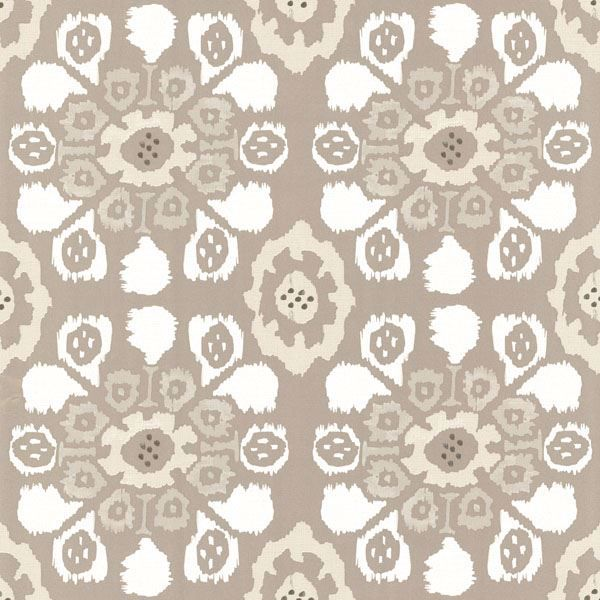 Valencia Taupe Ikat Floral