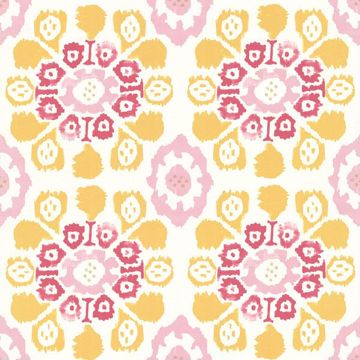 Valencia Yellow Ikat Floral