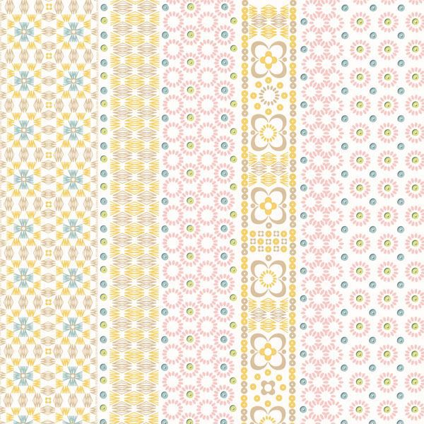 Conta Light Pink Sequin Embroidered Stripe