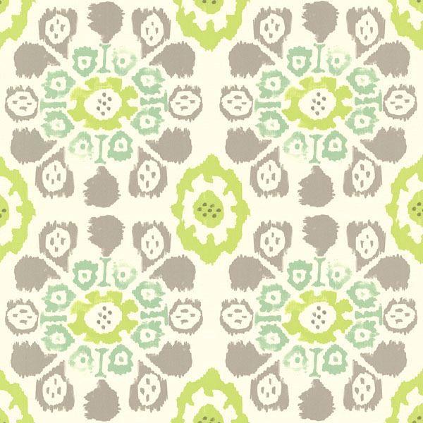 Valencia Green Ikat Floral