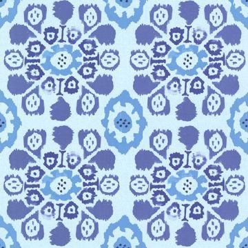 Valencia Blue Ikat Floral