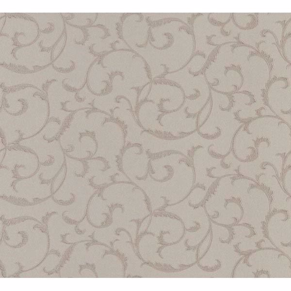 Benedetta Brown Embossed Scroll