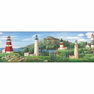 Gilead Green Lake Lighthouse Portrait Border