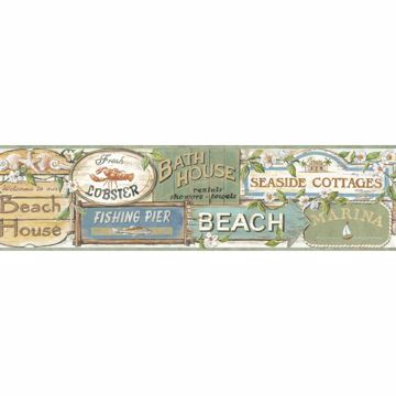 Captain Moss Seaside Signs Portrait Border