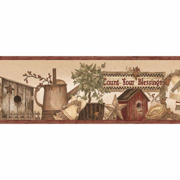 Abraham Wheat Count Blessings Portrait Border