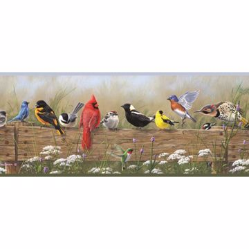 Clarence Green Songbird Menagerie Portrait Border