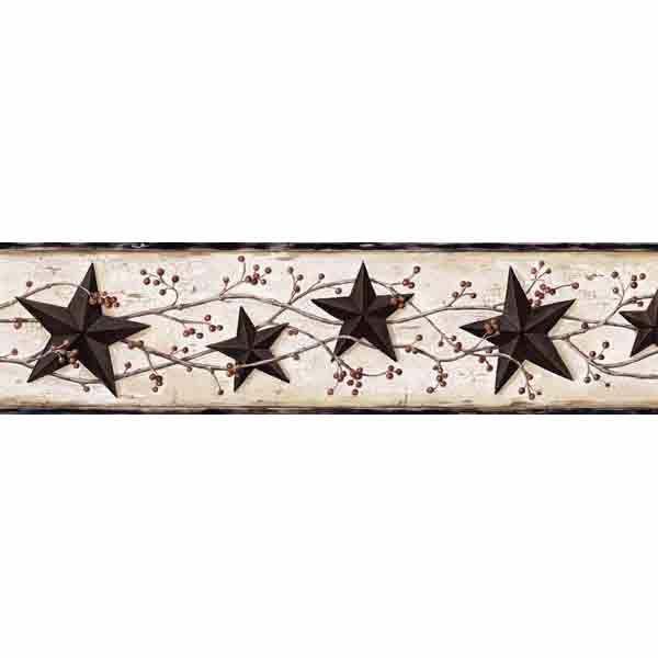 George Cream Tin Star Trail Border