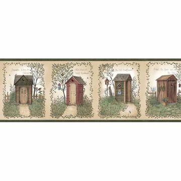 Fennel Wheat Outhouse Portrait Blocks Border