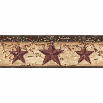 Graham Sand Rustic Star Trail Border
