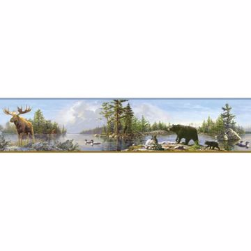 Fresca Blue Moose Lake Portrait Border