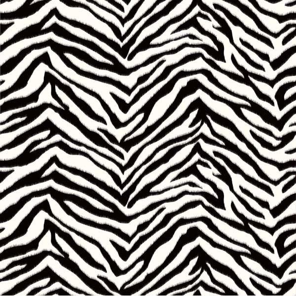 Miya Black Faux Zebra Stripes