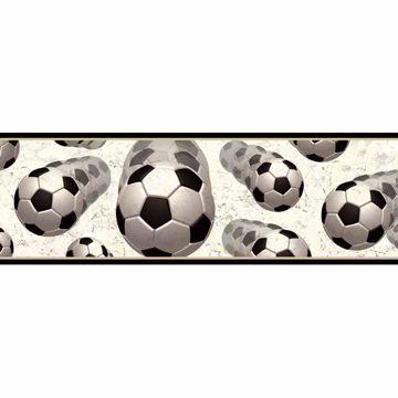 Beckham Black Soccer Balls Motion Border