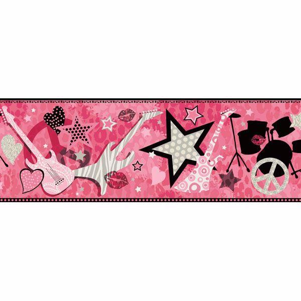 Blondie Pink Rock Star Toss Border