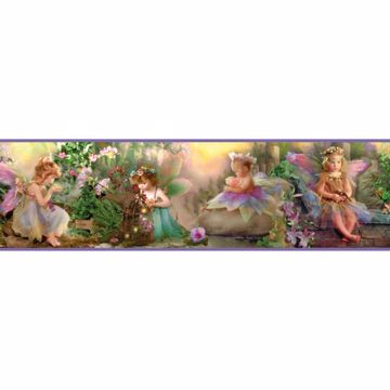 Esmeralda Purple Fairyland Portrait Border
