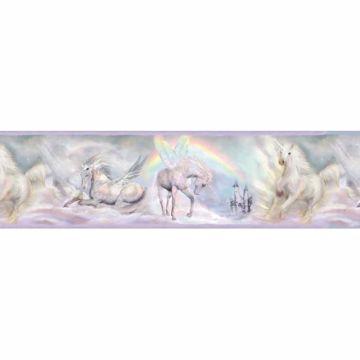 Farewell Purple Unicorn Dreams Portrait Border