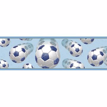 Beckham Blue Soccer Ball Motion Border