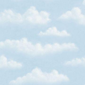 Fluff Blue Faux Puffy Clouds