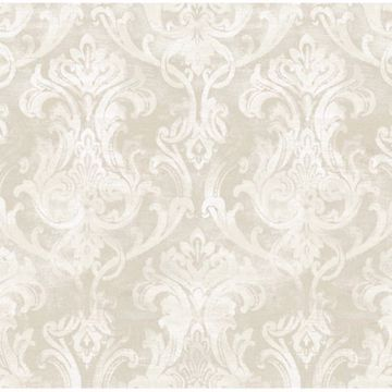 Elsa Silver Ornate Damask