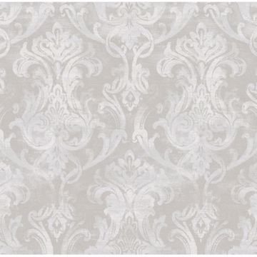 Elsa Grey Ornate Damask