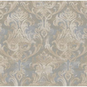 Elsa Blue Ornate Damask