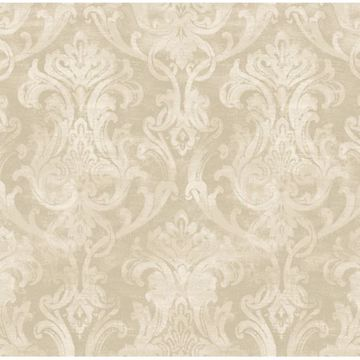 Elsa Wheat Ornate Damask
