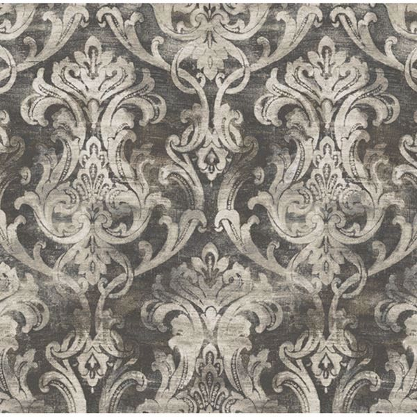Elsa Black Ornate Damask