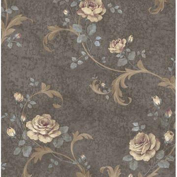 Gracie Grey Floral Scroll