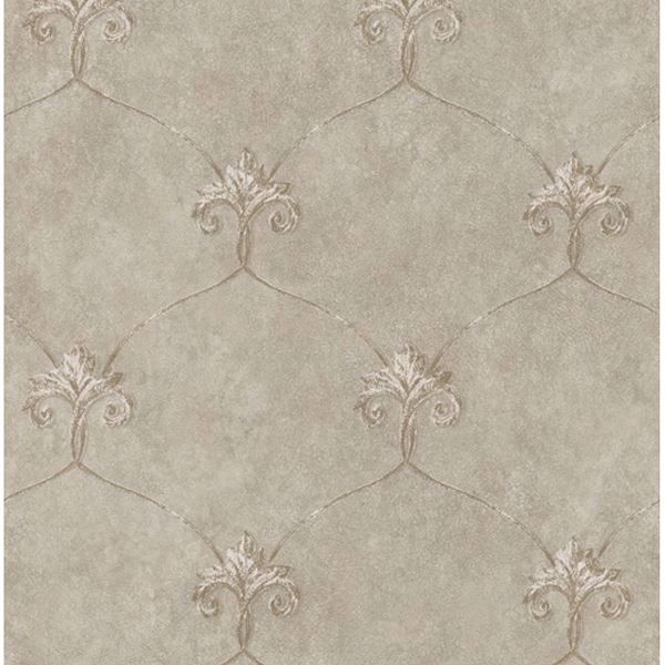 Tuscan Taupe Shimmering Ogee