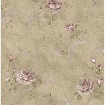 Gracie Sage Floral Scroll