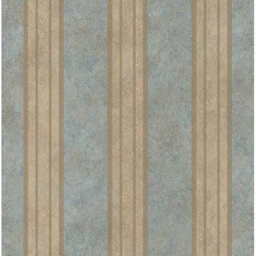 Giovanni Blue Tuscan Alternating Stripe
