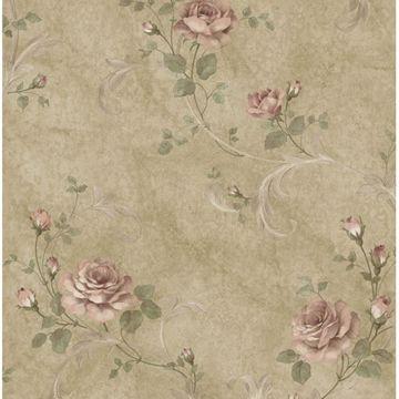 Gracie Brown Floral Scroll