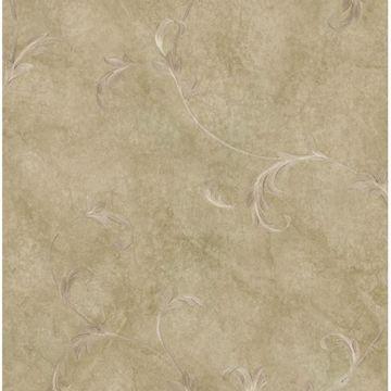 Kyra Brown Leafy Scroll